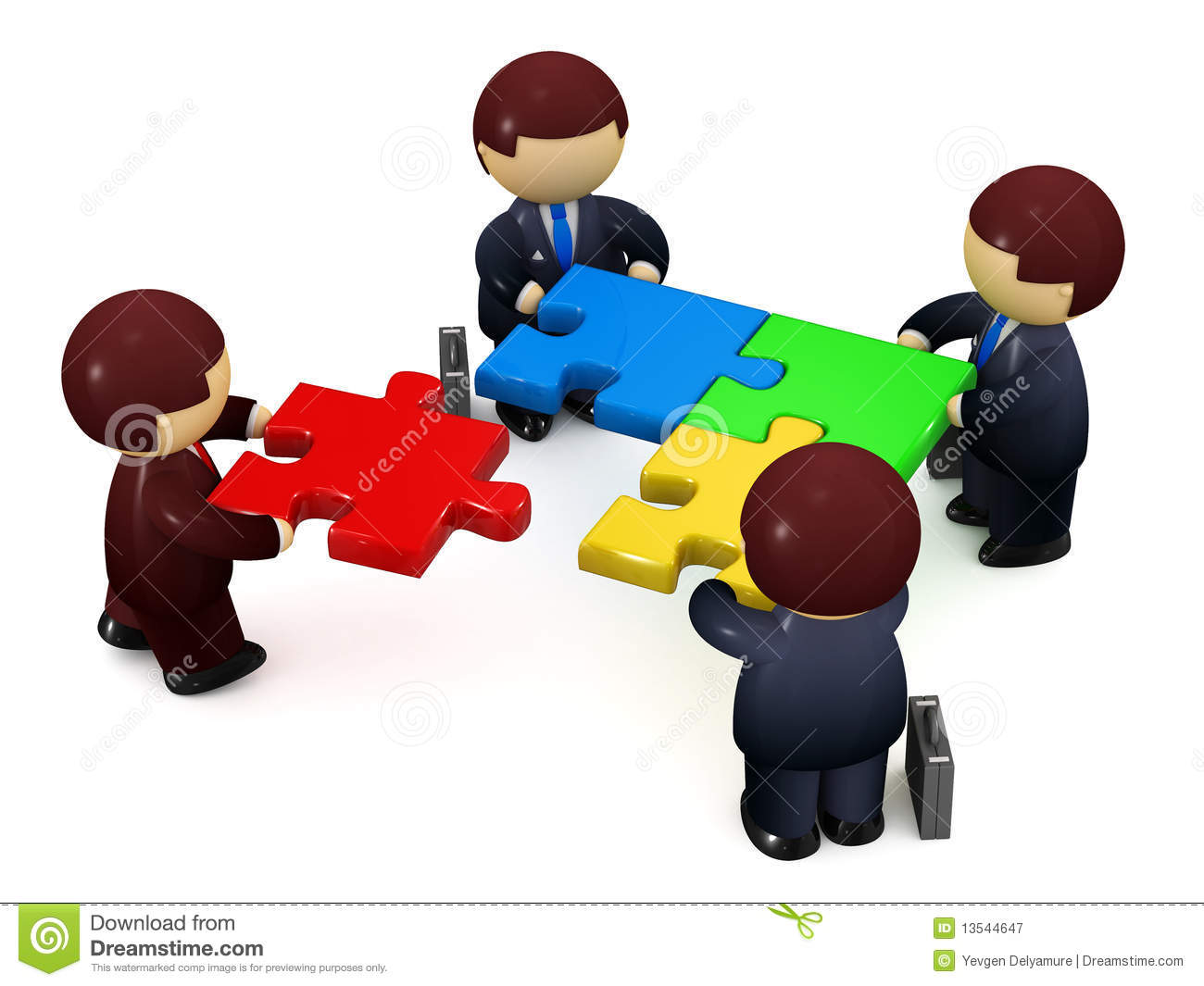 Businessmen Solving Jigsaw Puzzle Royalty Free Stock ...