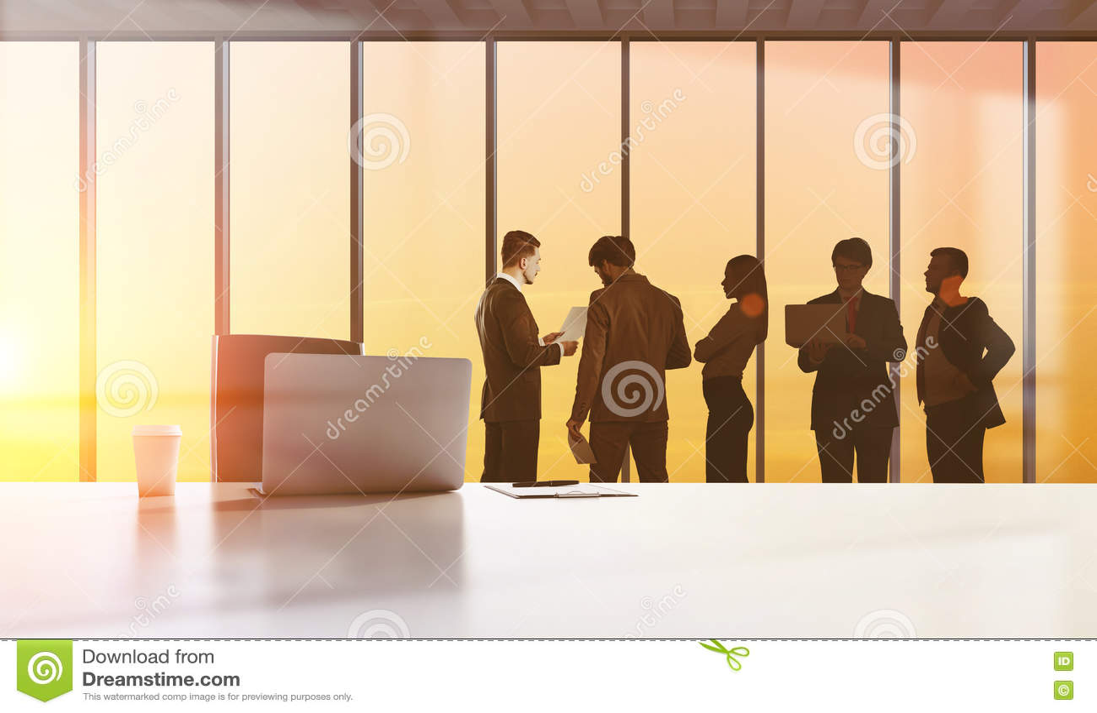 Businesspeople figures, teamwork concept