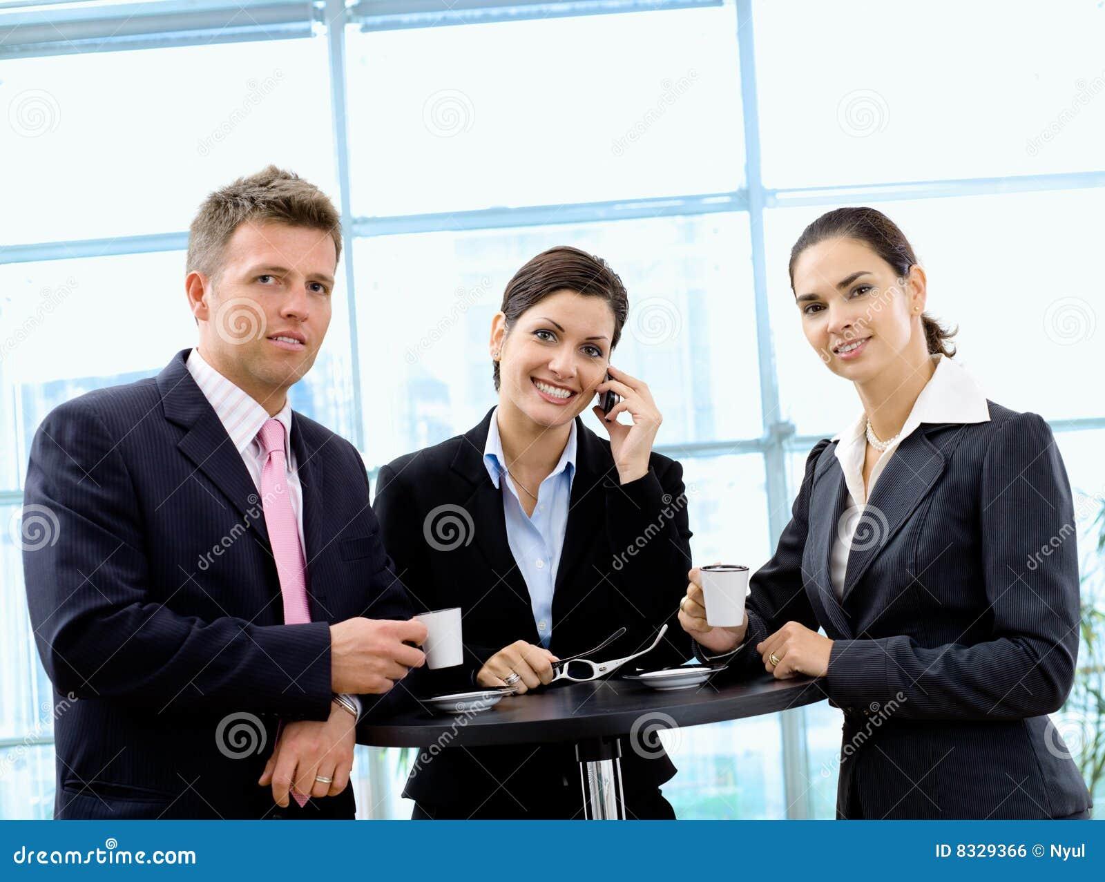 Businesspeople having coffee break