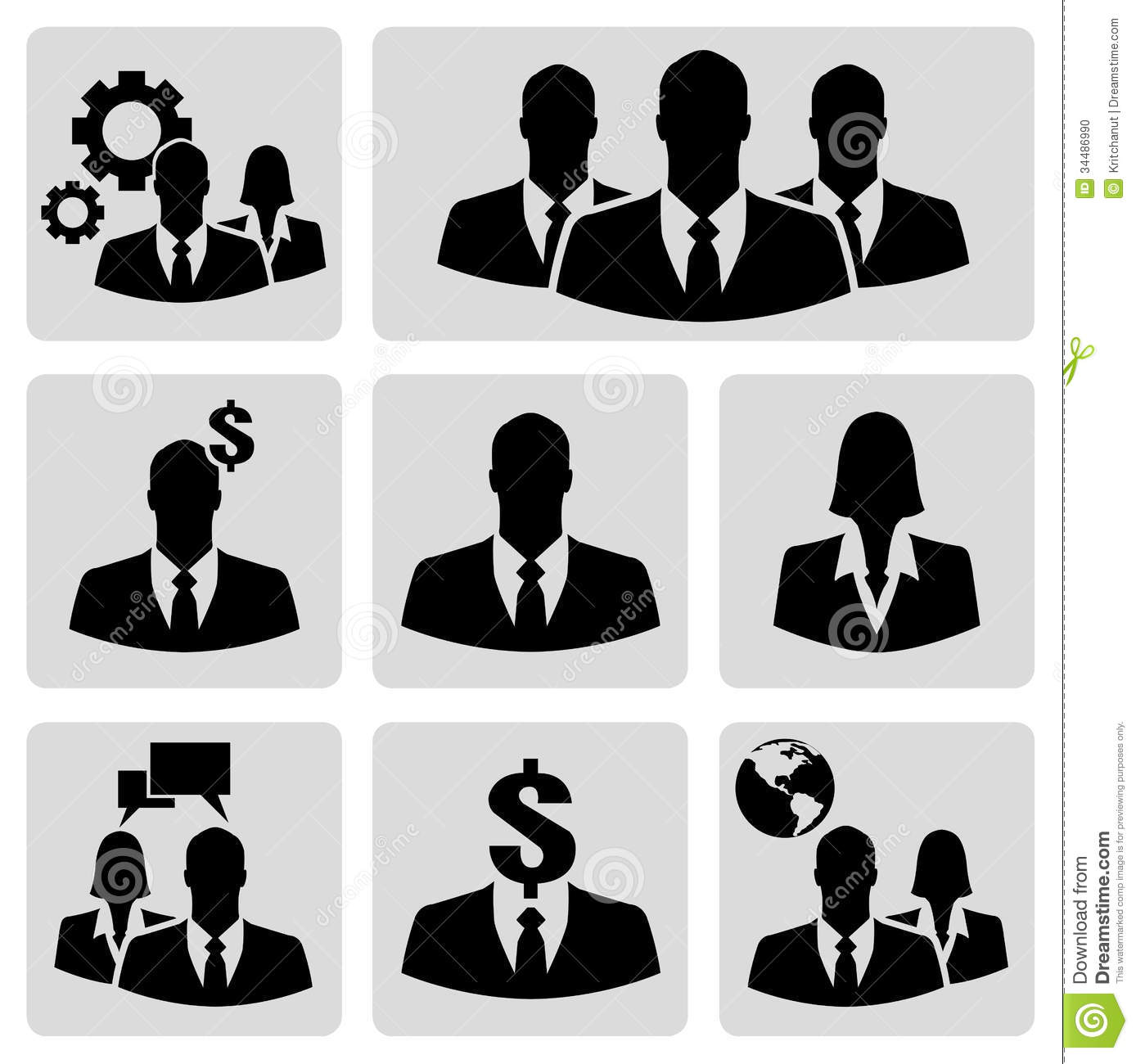 Businesspeople Icons Stock Photo Image 34486990