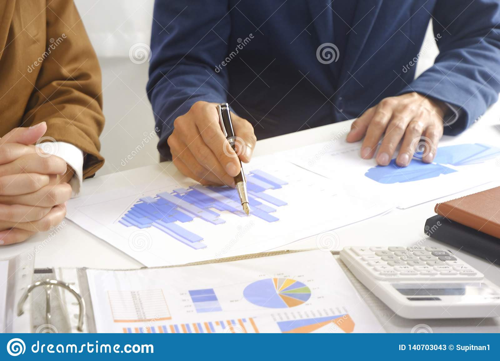 Businesspeople meeting design idea, professional investor working in office for start up new project