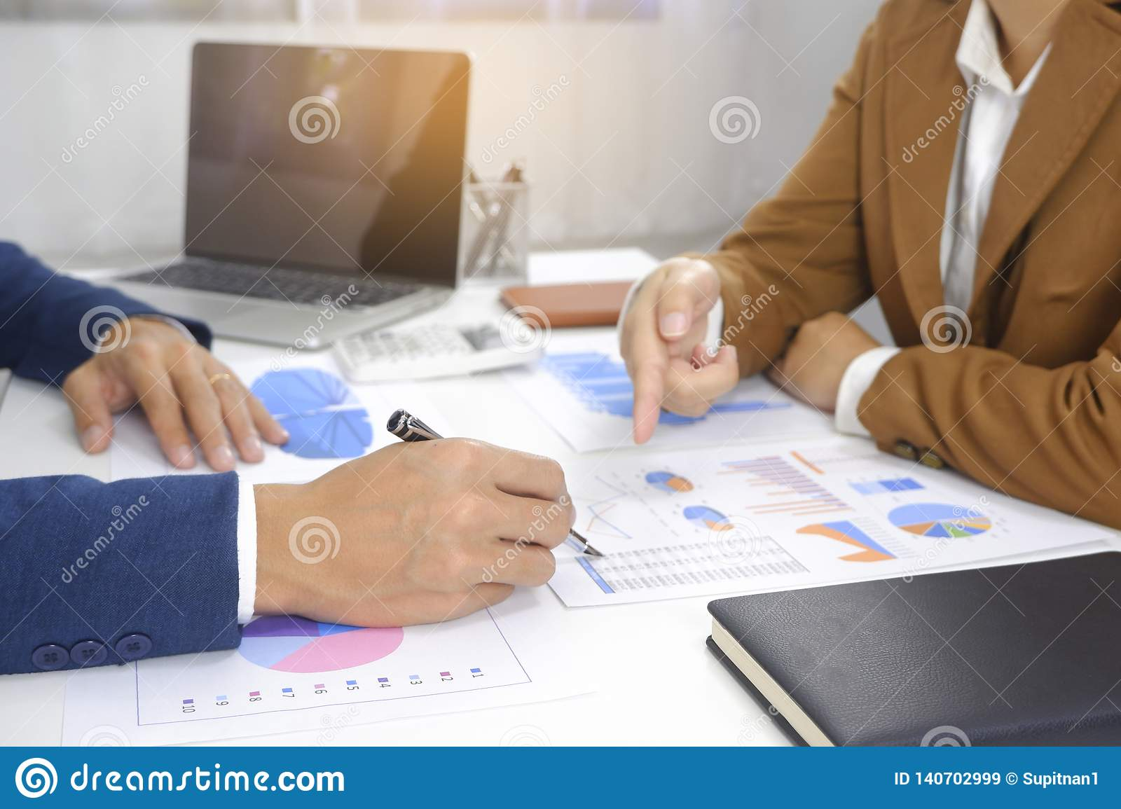 Businesspeople meeting design idea, professional investor working in office for start up new project.