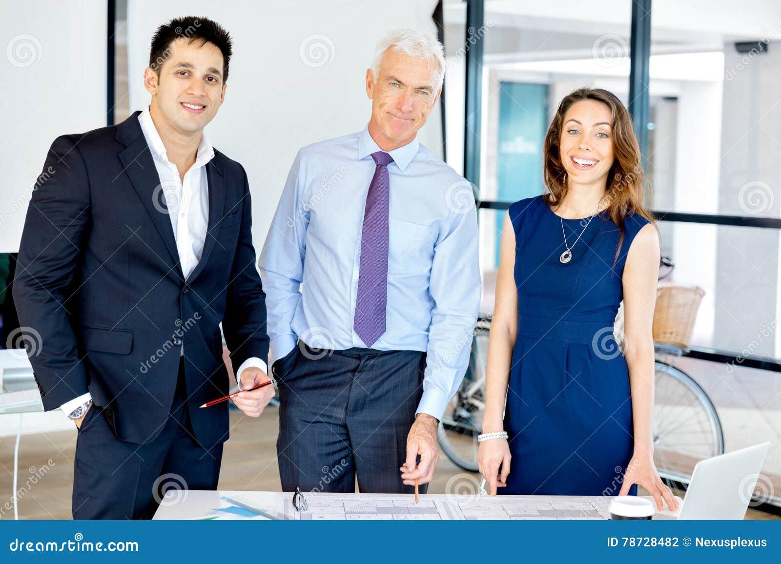 Businesspeople som har möte
