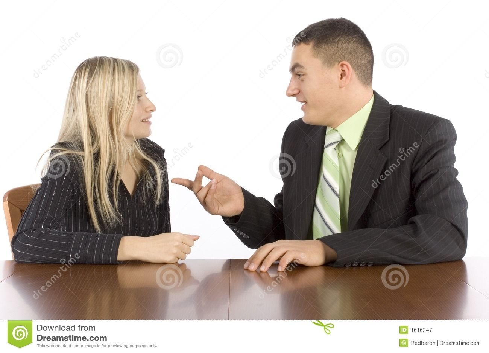 Businesspeoplekonversation två