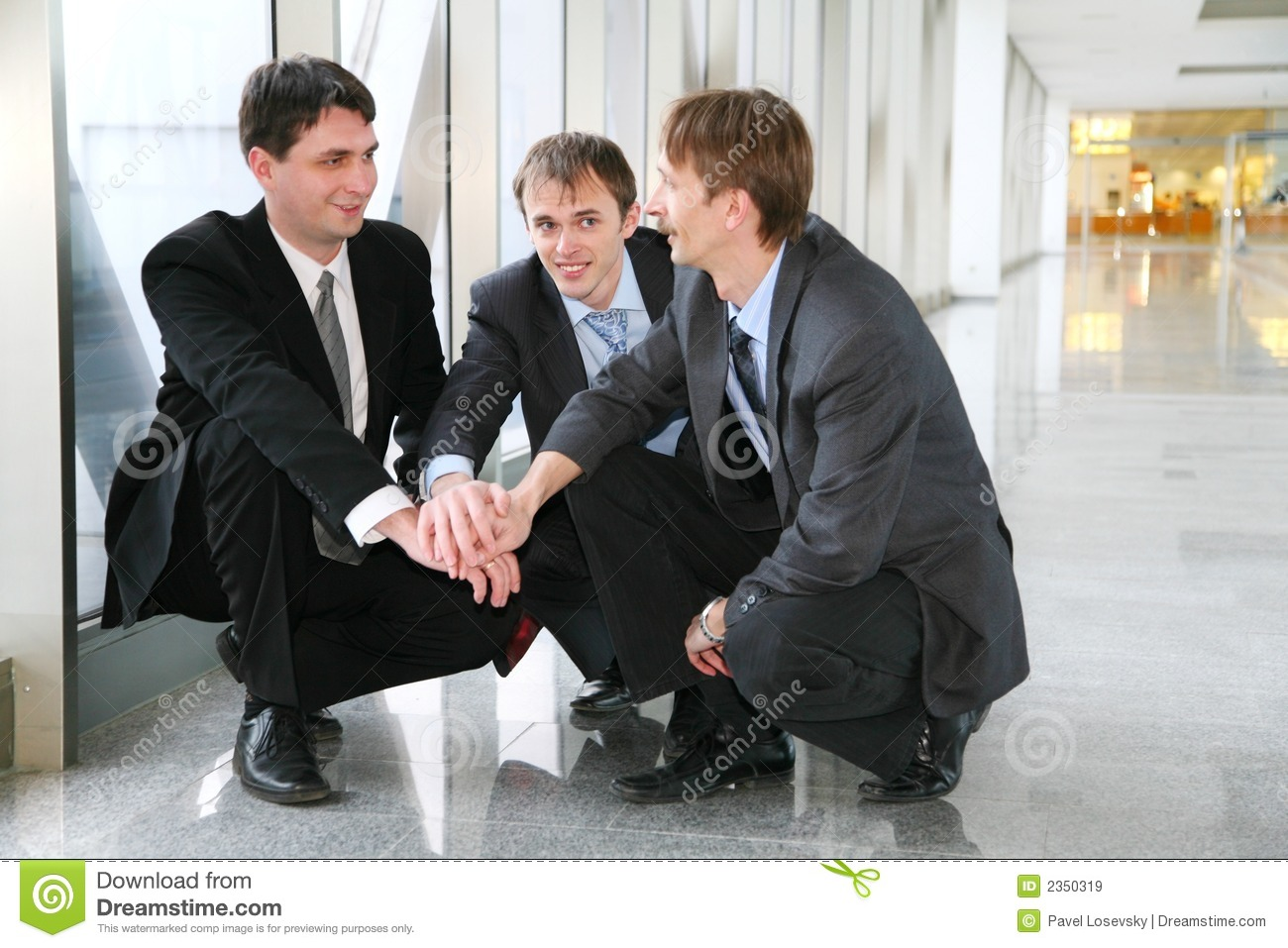 Businessteam enigma with hands
