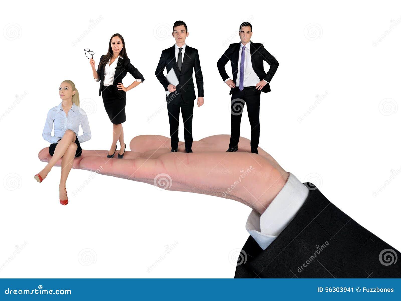 Businessteam isolated
