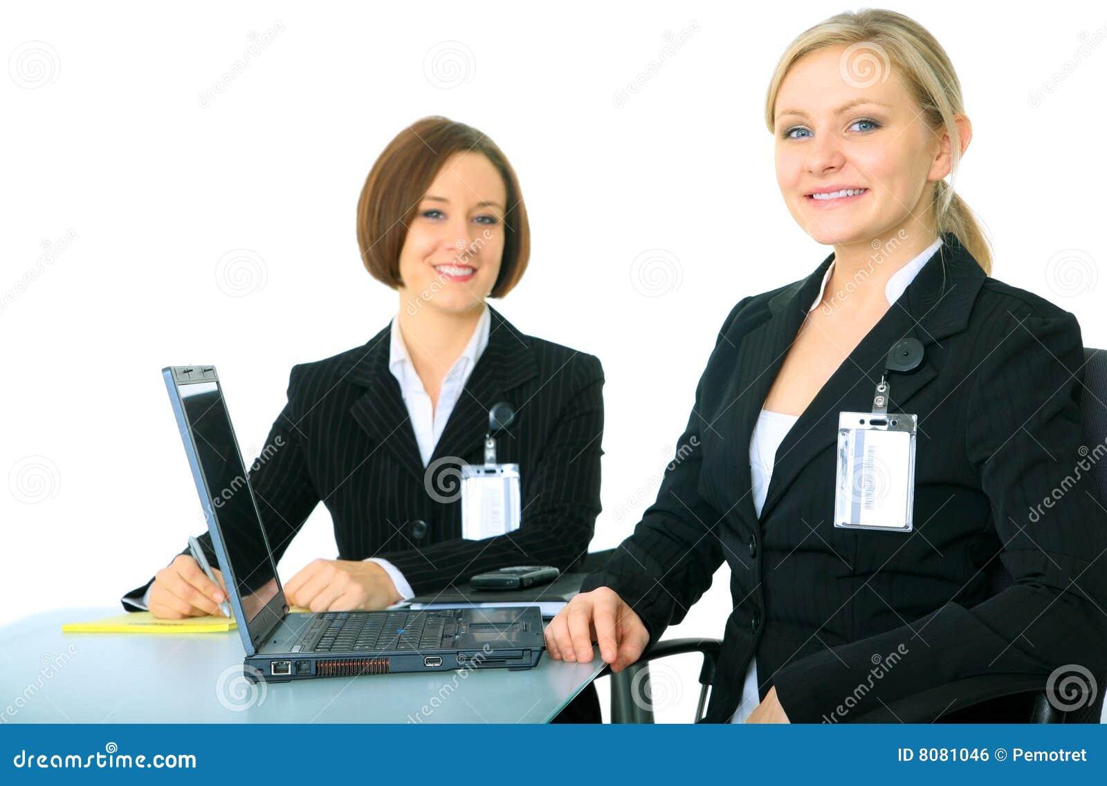Businessteam som ser tittarebarn