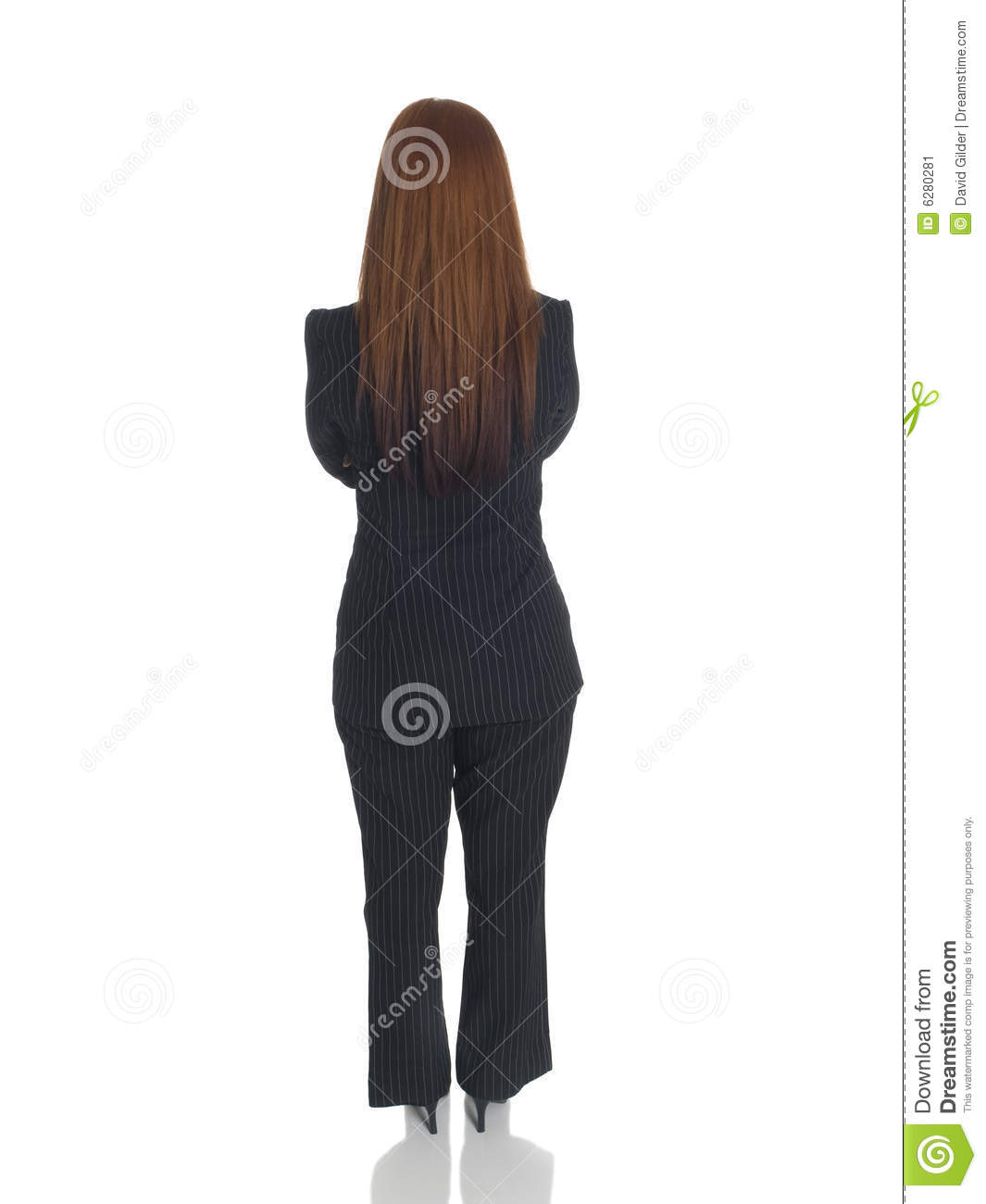 Businesswoman - back arms crossed