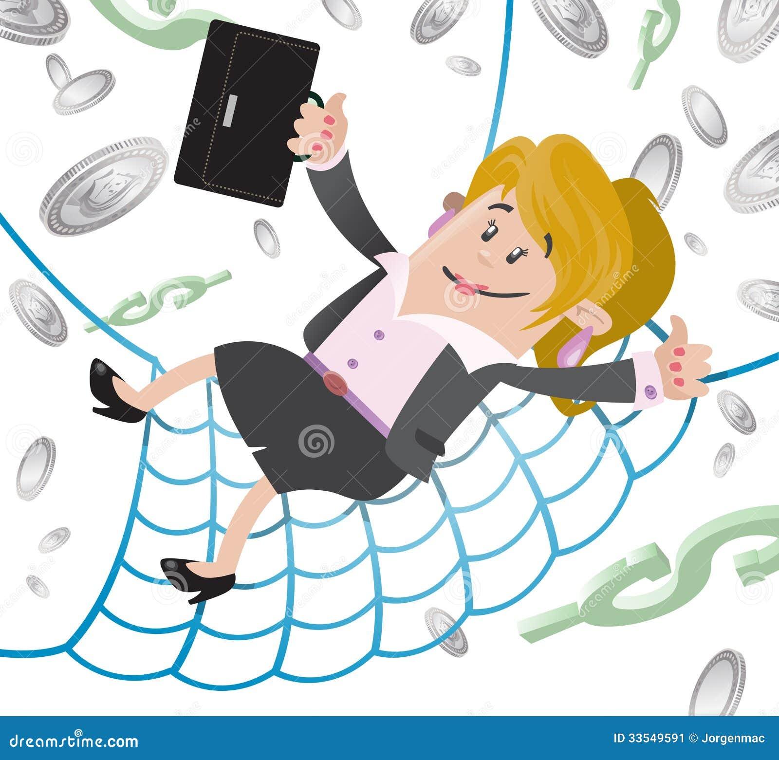 Businesswoman Buddy Has A Financial Safety Net. Stock ...