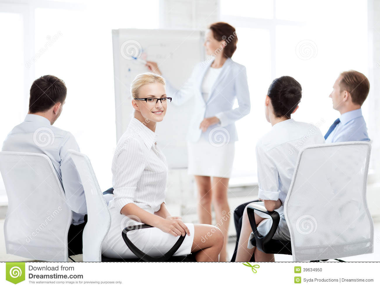 Businesswoman on business meeting in office