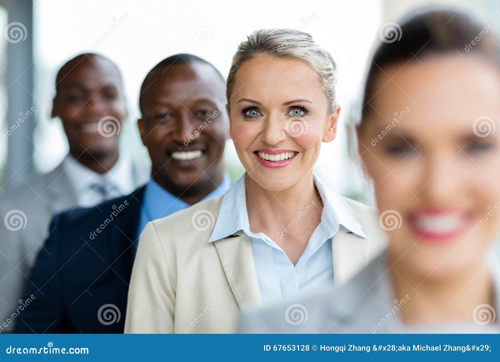 businesswoman business team