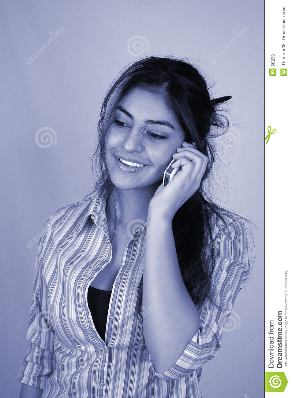 Businesswoman and cellphone-4