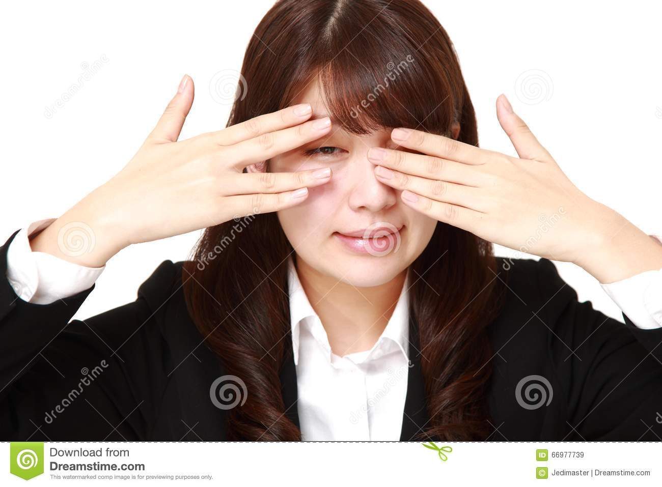 covering face with hands businesswoman covering her face royalty free stock image 9996