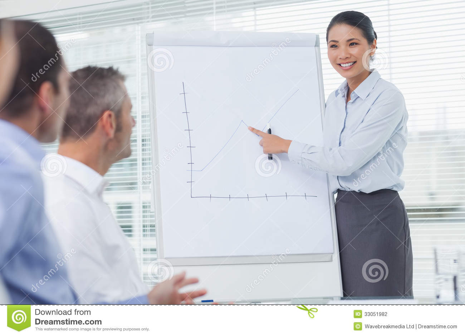 businesswoman explaining graphs during her presentation Reading Center Clip Art Computer Center Clip Art