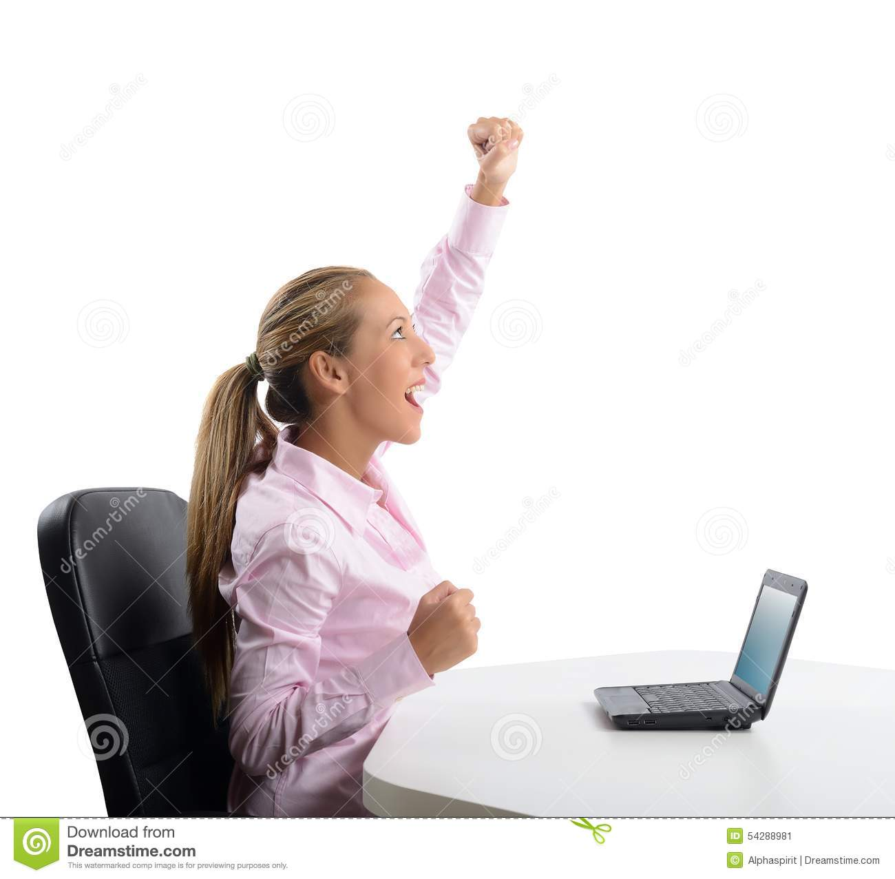businesswoman exults stock image  image of money  occupation