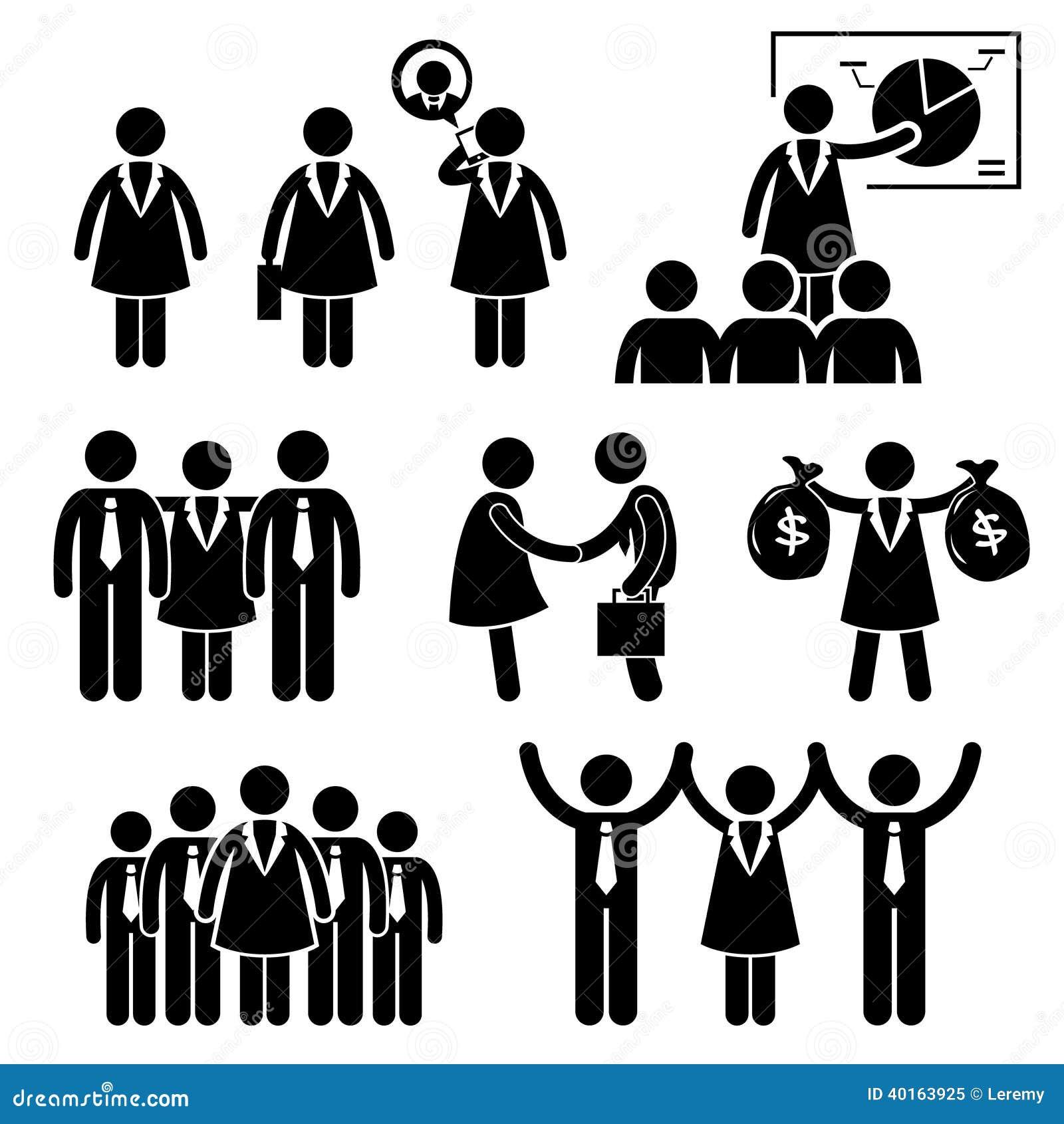 Businesswoman female ceo stick figure pictogram ic stock vector businesswoman female ceo stick figure pictogram ic biocorpaavc
