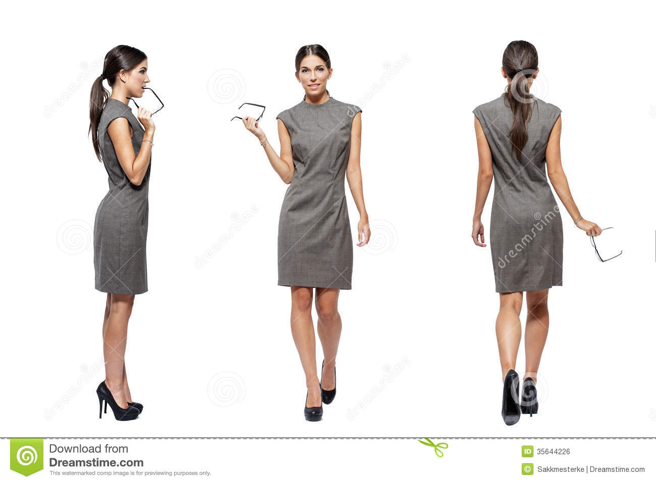 businesswoman front side back view stock photo image of elegant