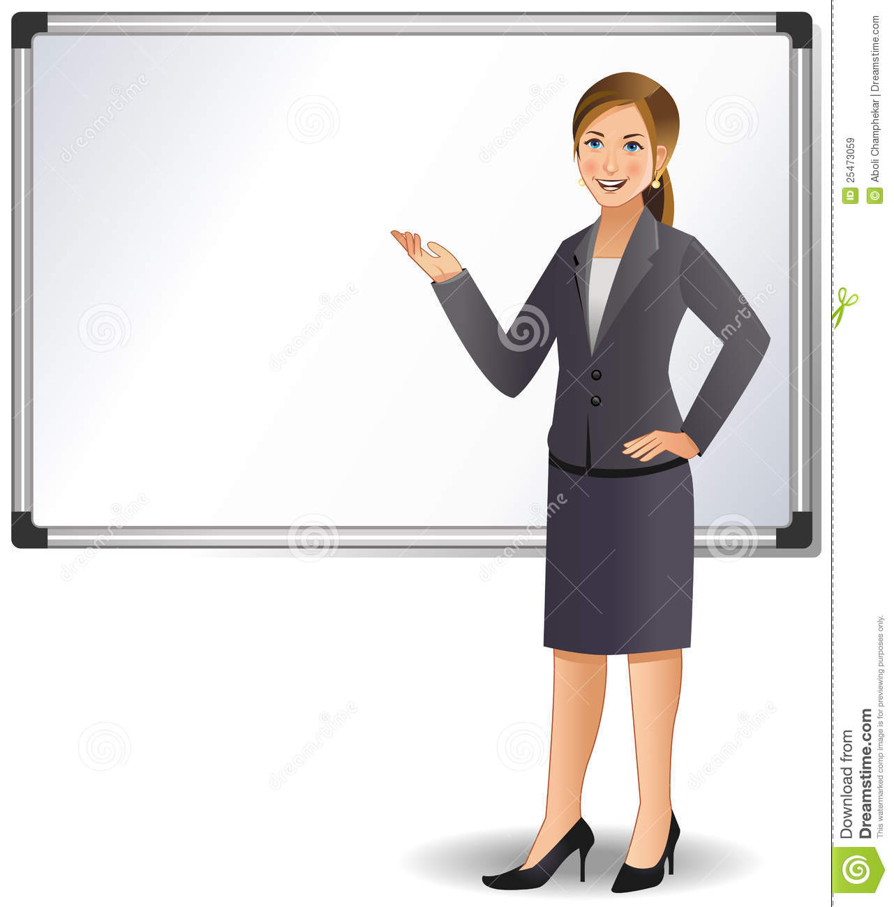 Businesswoman Giving A Presentation Royalty Free Stock Images - Image ...