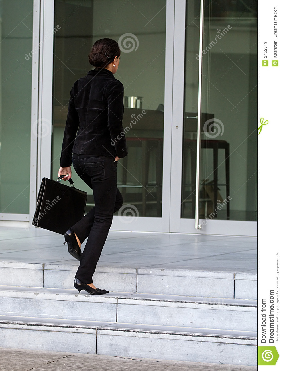 Businesswoman Going To Work Stock Image - Image of brisk ...