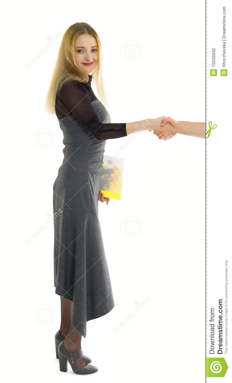 Businesswoman with herbarium folder stock photography image 15035042 - Model herbarium ...