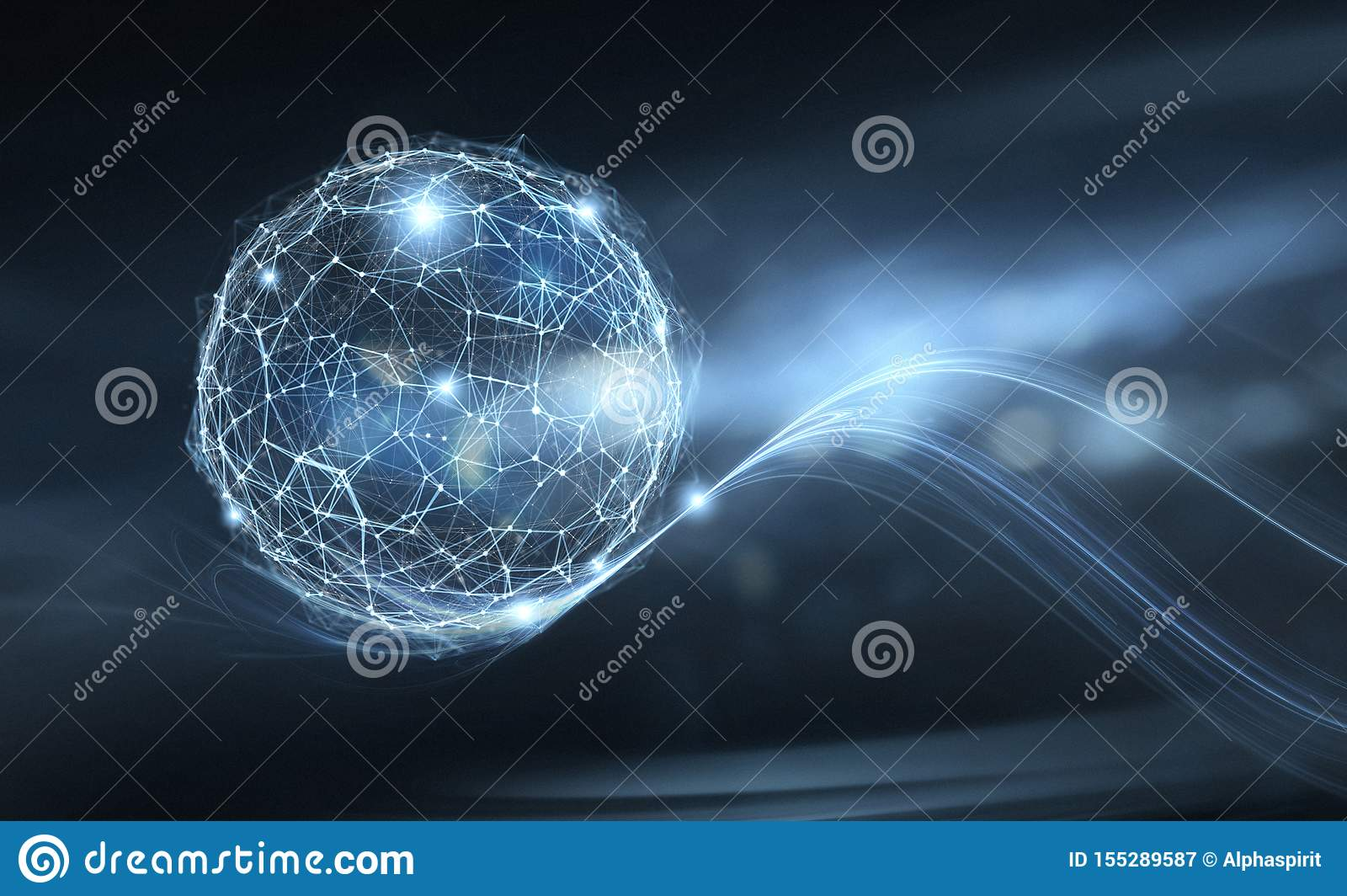 Businesswoman holds internet globe. Concept of connection and network