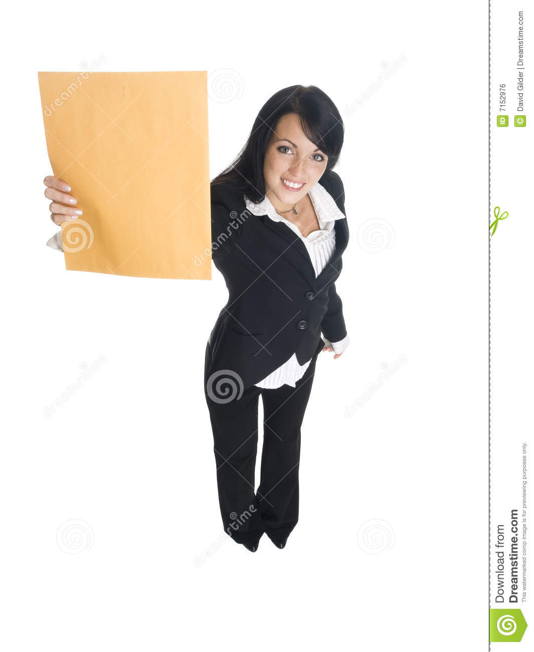 Businesswoman interoffice mail royalty free stock image for Interoffice mail envelope template
