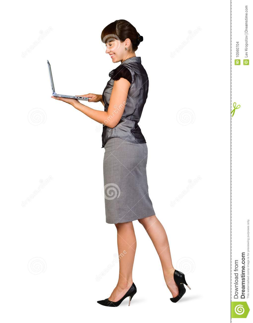 Businesswoman with Laptop stock photo. Image of laptop ...