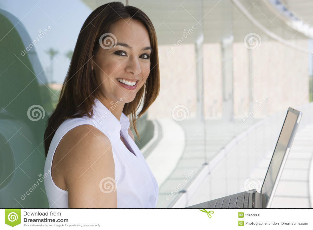 Businesswoman With Laptop stock image. Image of occupation ...