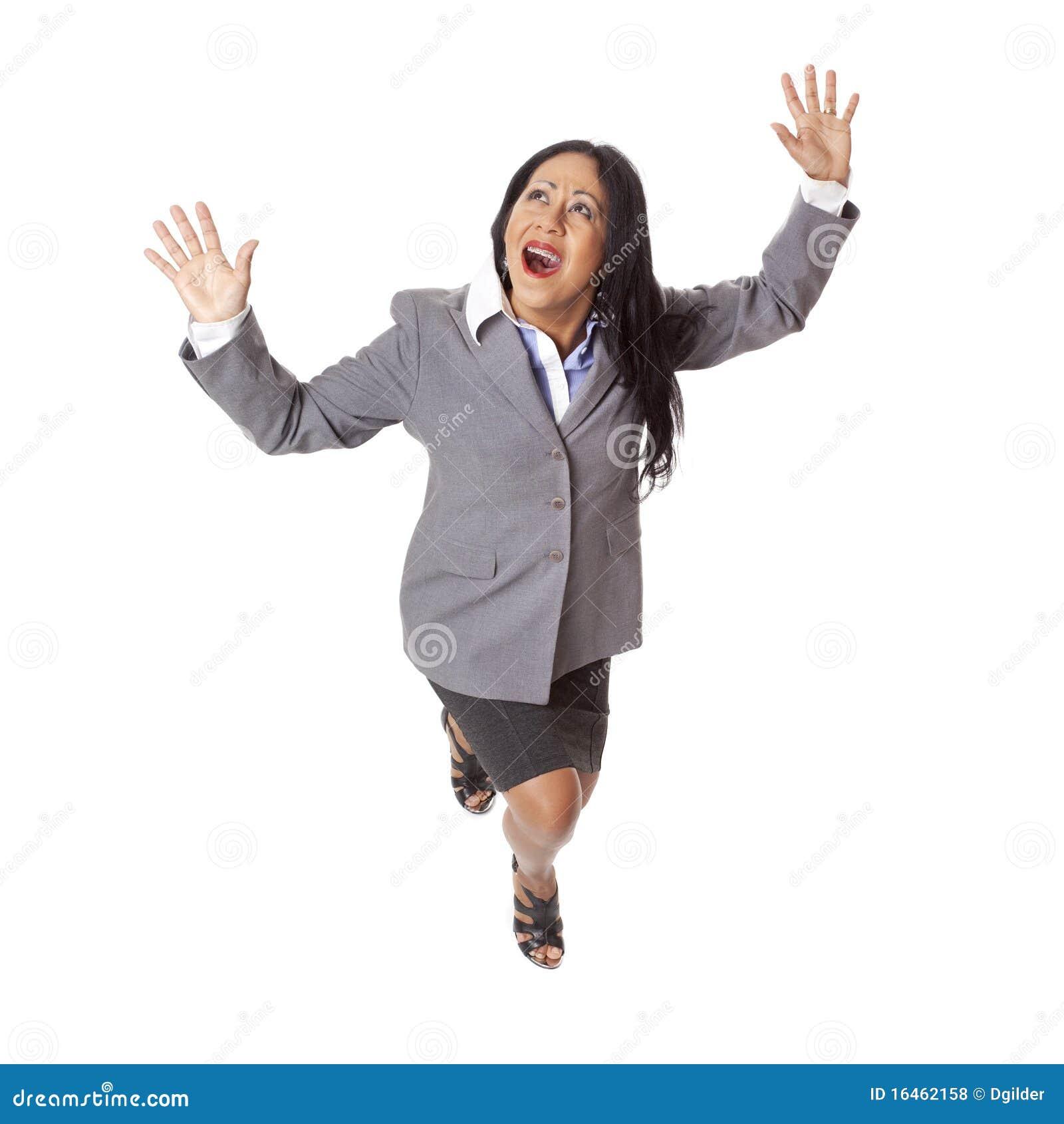 Latina In Peril Stock Photo