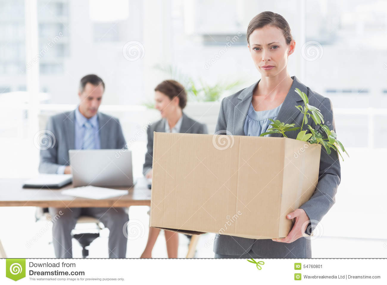 businessw leaving office after being fired stock photo image businessw leaving office after being fired