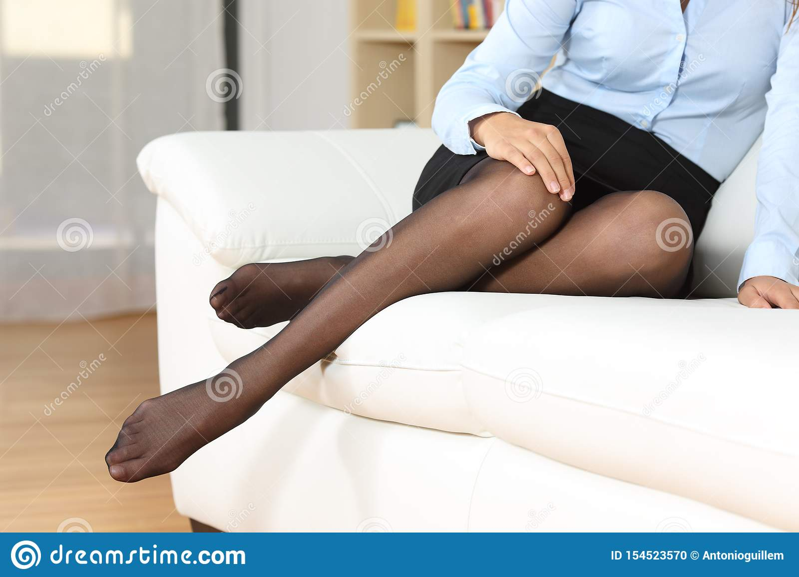 Nylons girl in Young Woman