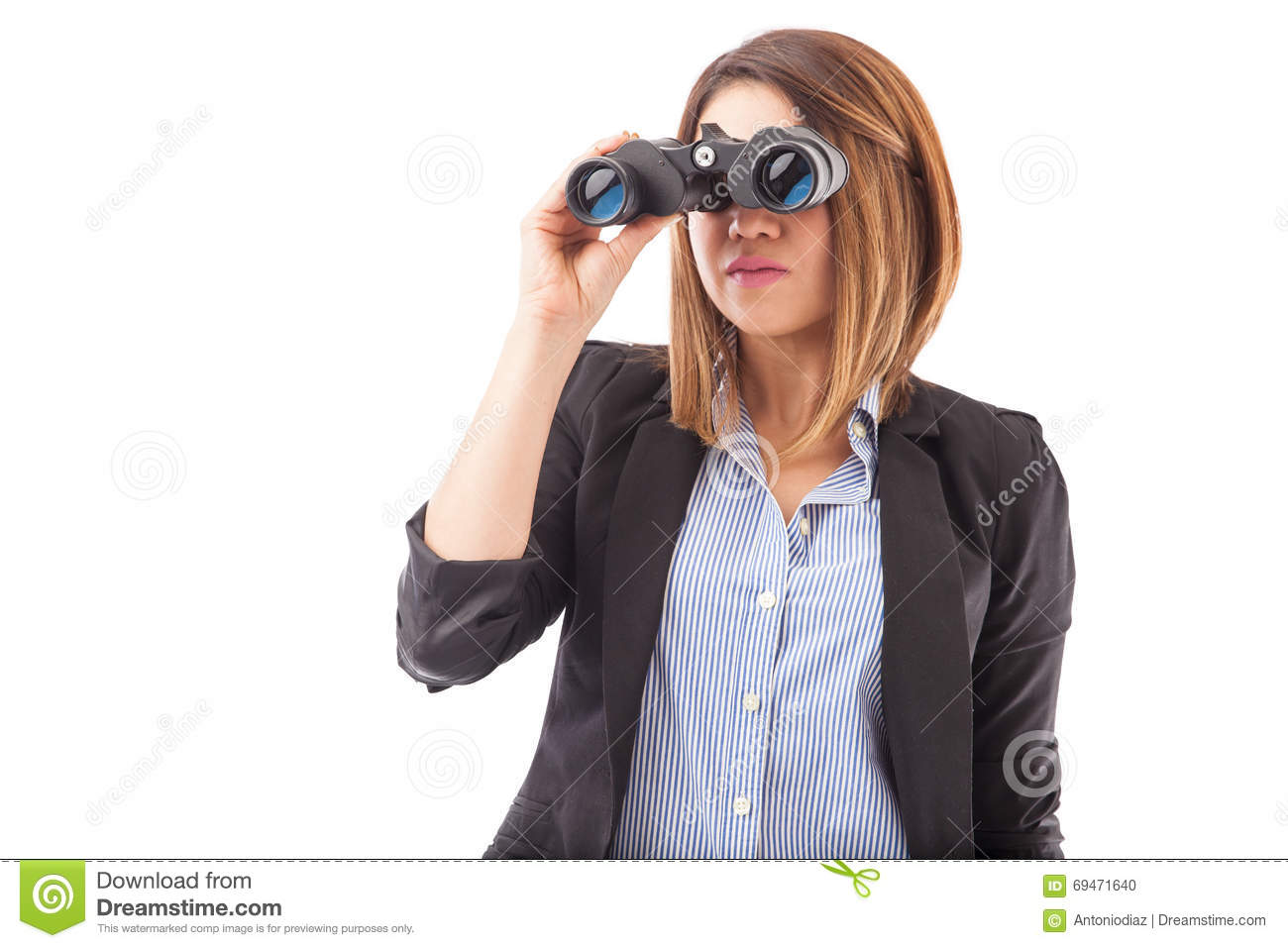Businesswoman Looking Ahead On Her Business Stock Photo ...