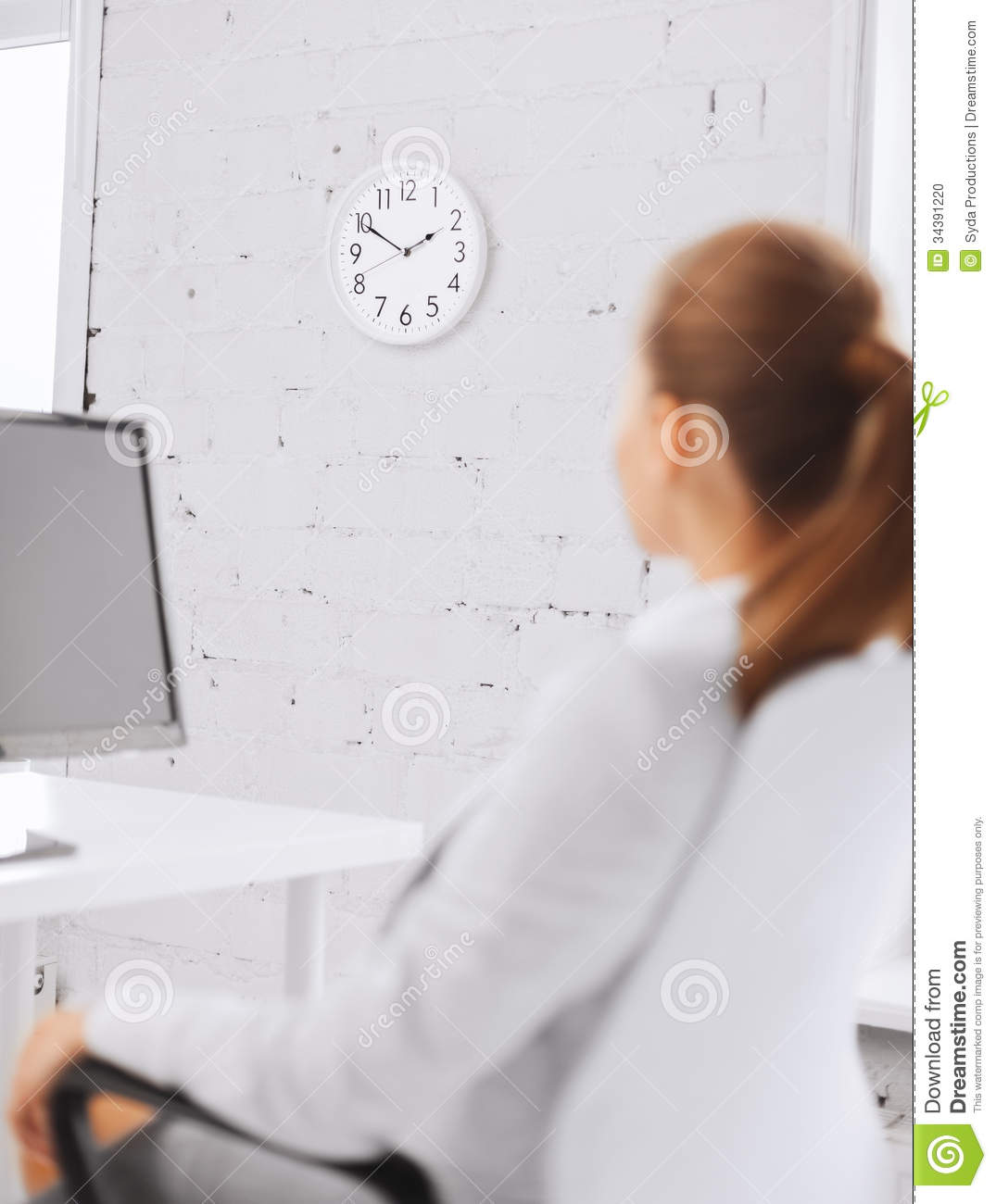 wall clock for office. plain clock business businesswoman clock education looking office wall  and wall clock for office