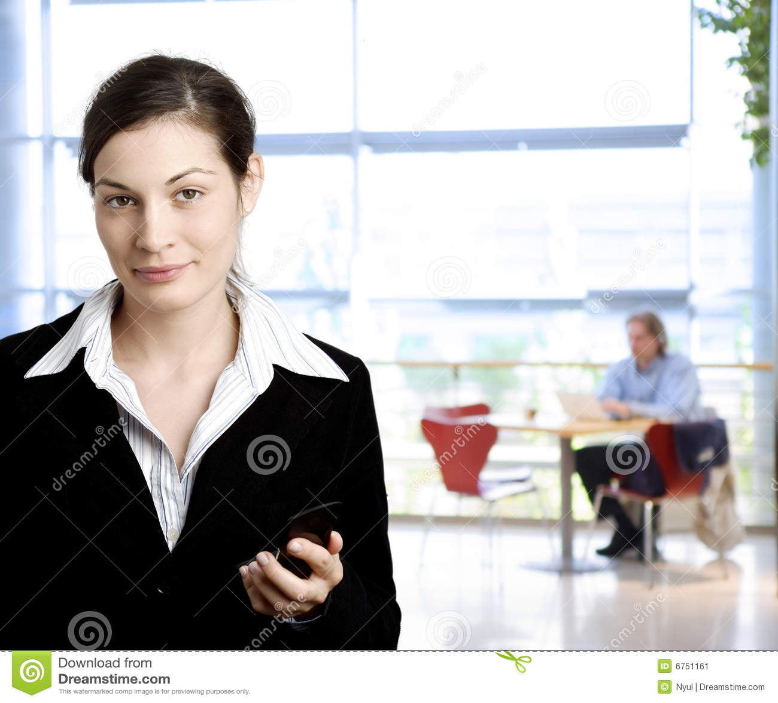 Businesswoman mobile phone