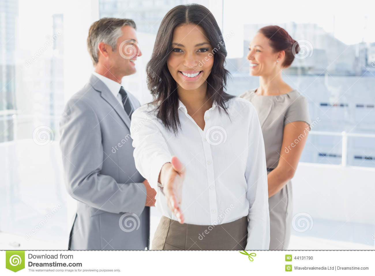 Business people handshake greeting deal at work photo free download - Businesswoman