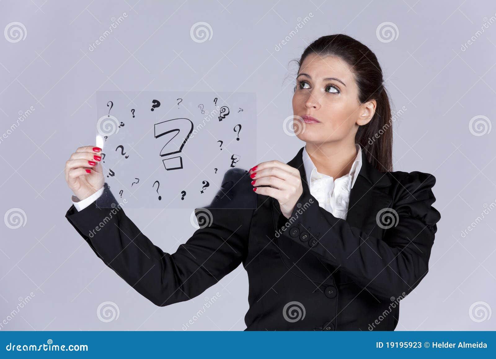 Businesswoman questions