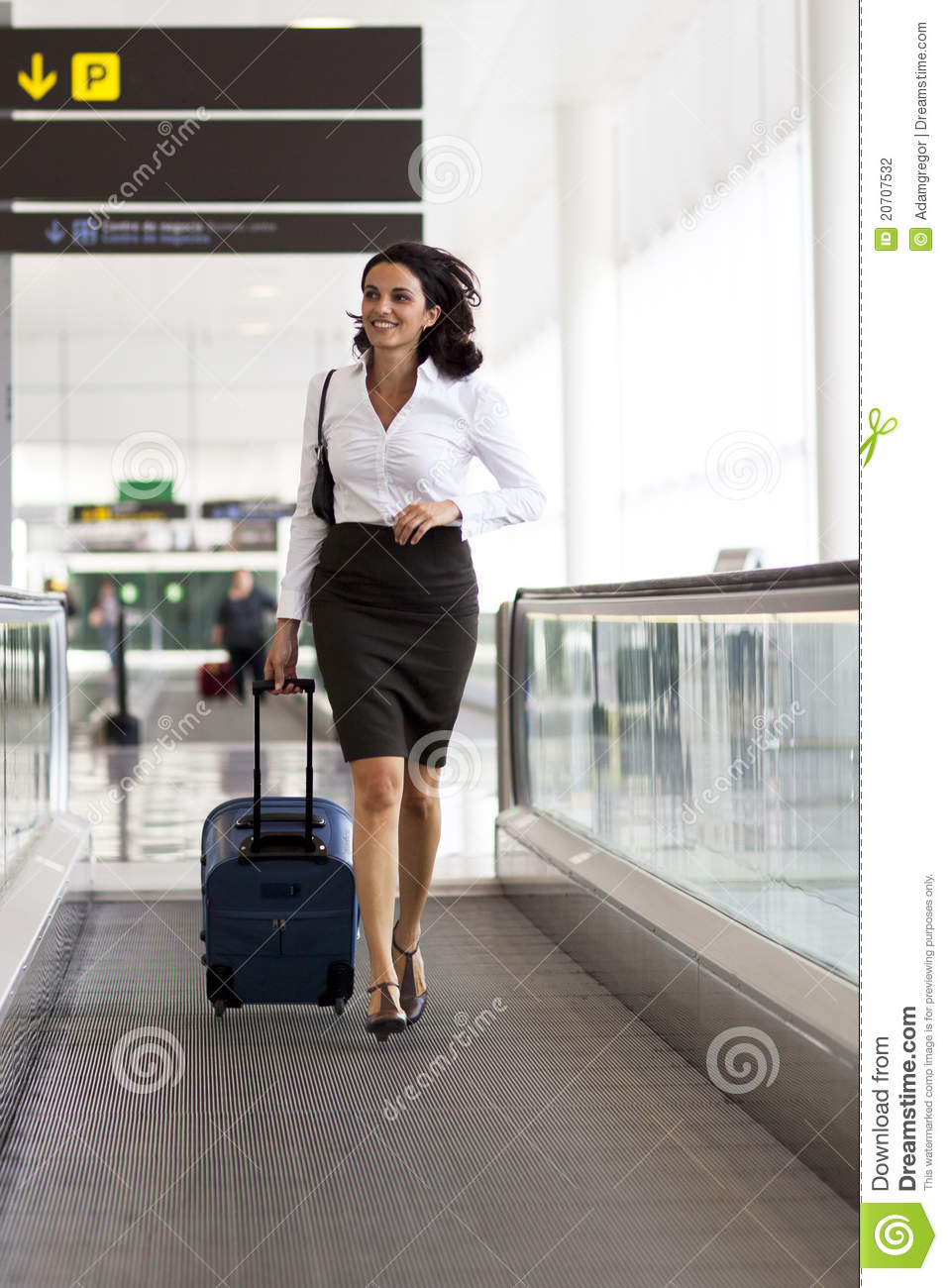 Asian Woman In Airport 62