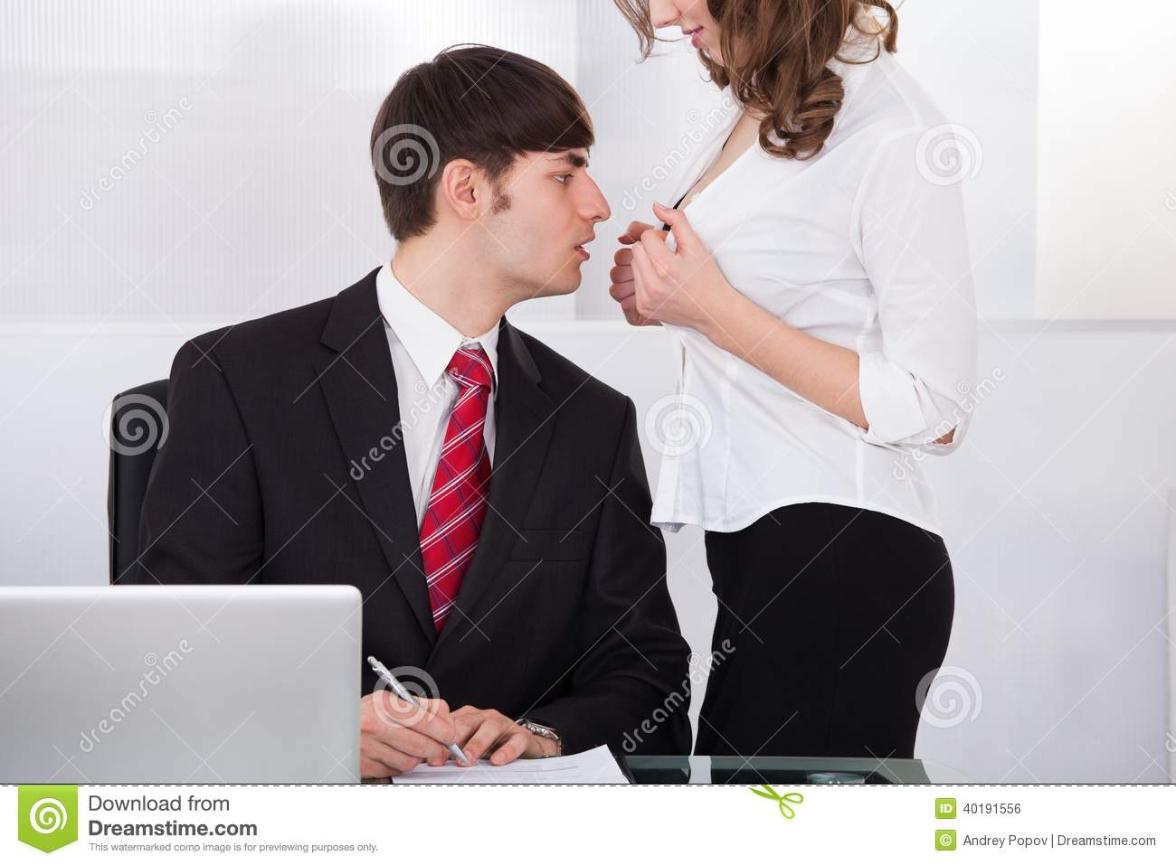 businesswoman seducing boss in office stock photo image of harassment inviting 40191556. Black Bedroom Furniture Sets. Home Design Ideas
