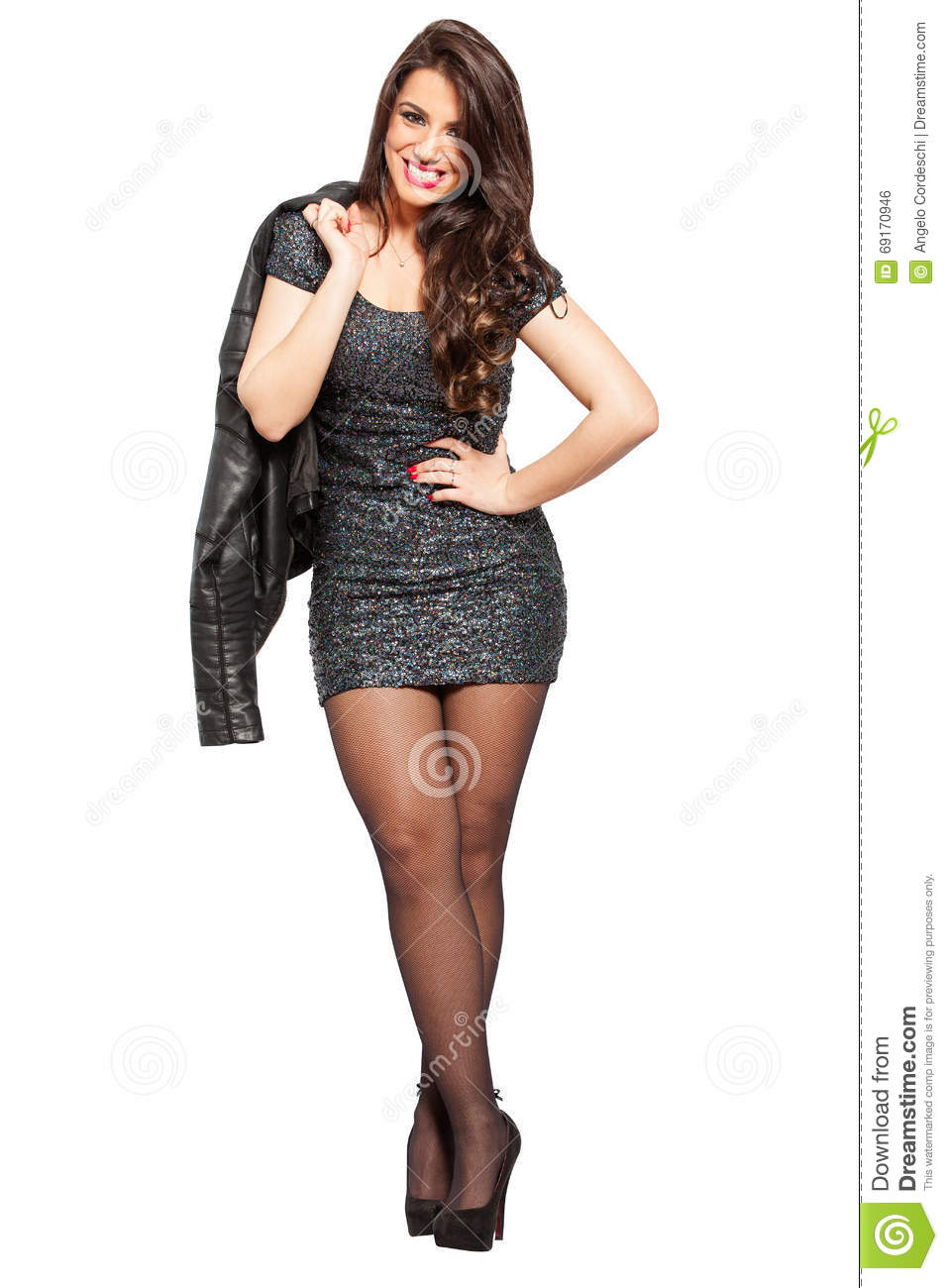 Businesswoman, smiling young woman on white. PNG available