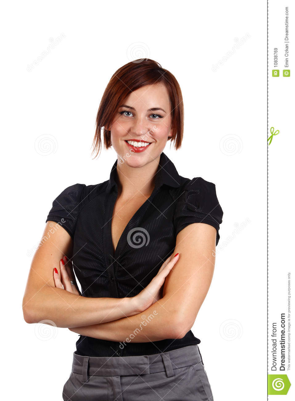 Businesswoman Standing Royalty Free Stock Images - Image: 10838769