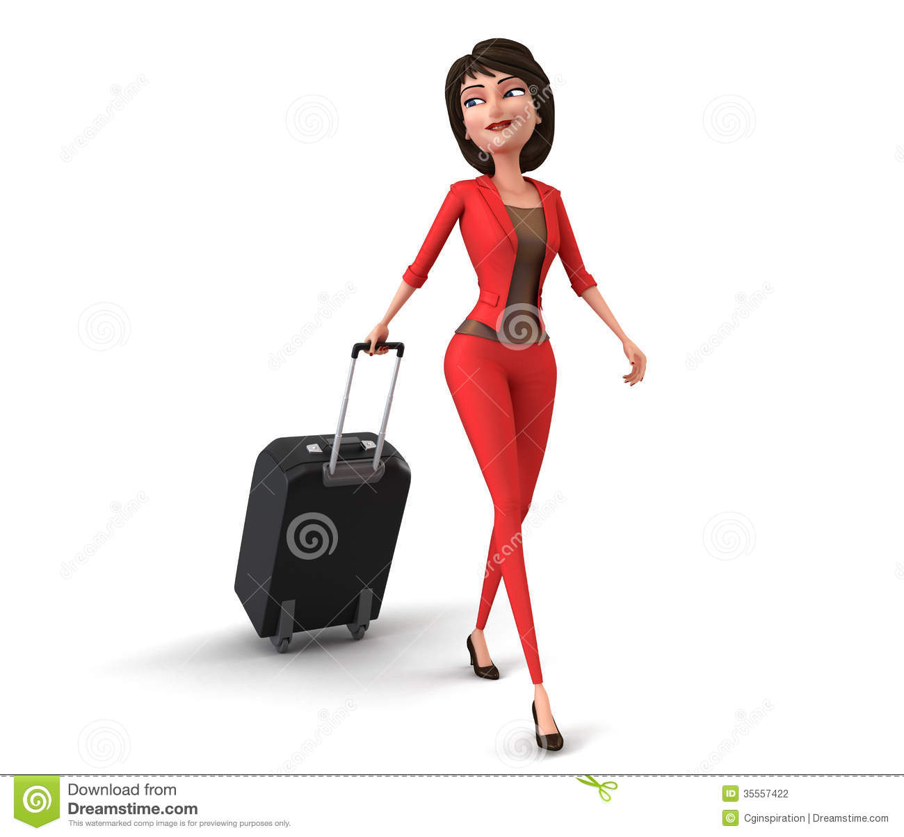 Businesswoman Traveling Stock Photography - Image: 35557422
