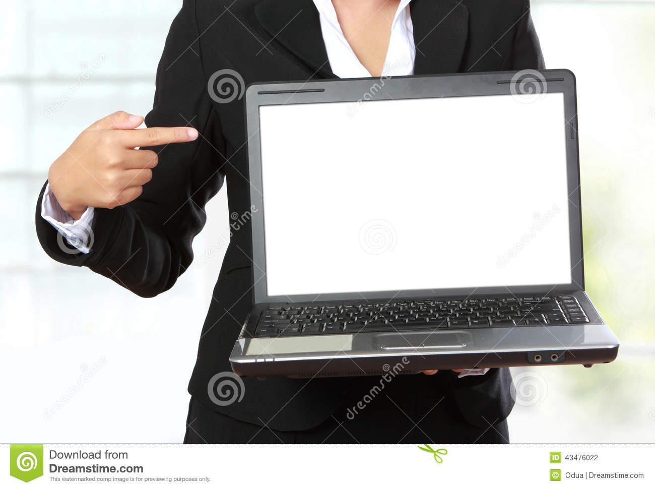 Blank Monitor Or Computer Desktop On White Table In Sunny
