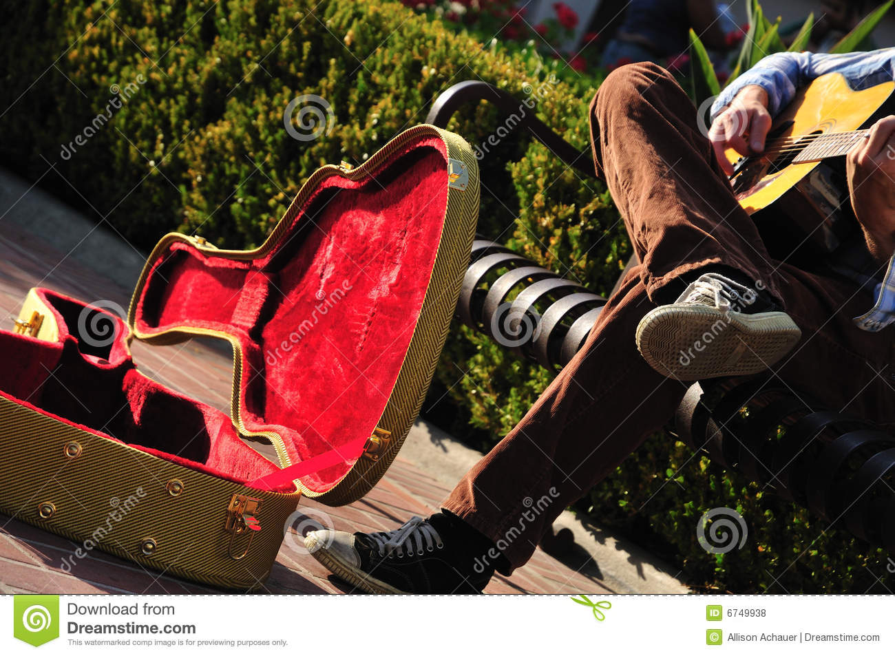 Download Busker's case stock photo. Image of warm, guitar, performer - 6749938