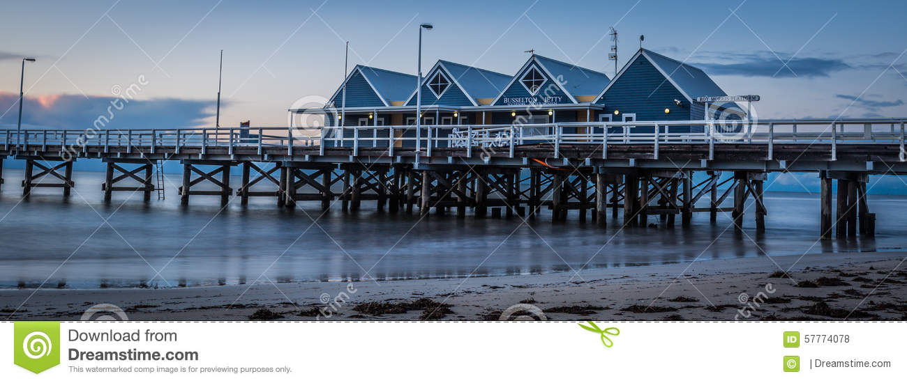 BUSSELTON JETTY AND SEA SOUTH WEST WESTERN AUSTRALIA
