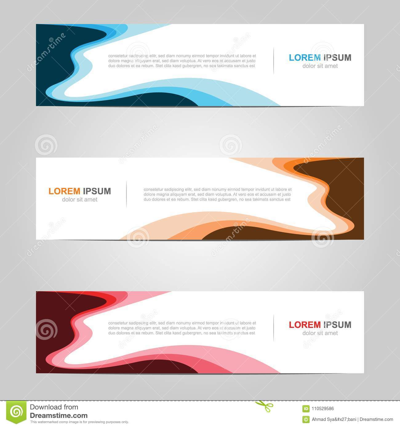 Modern Banner Template Design Creative With Abstract Background