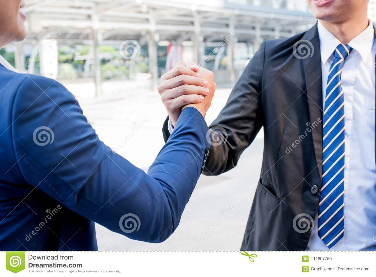 bussiness handshake teamwork and successful stock photo image of