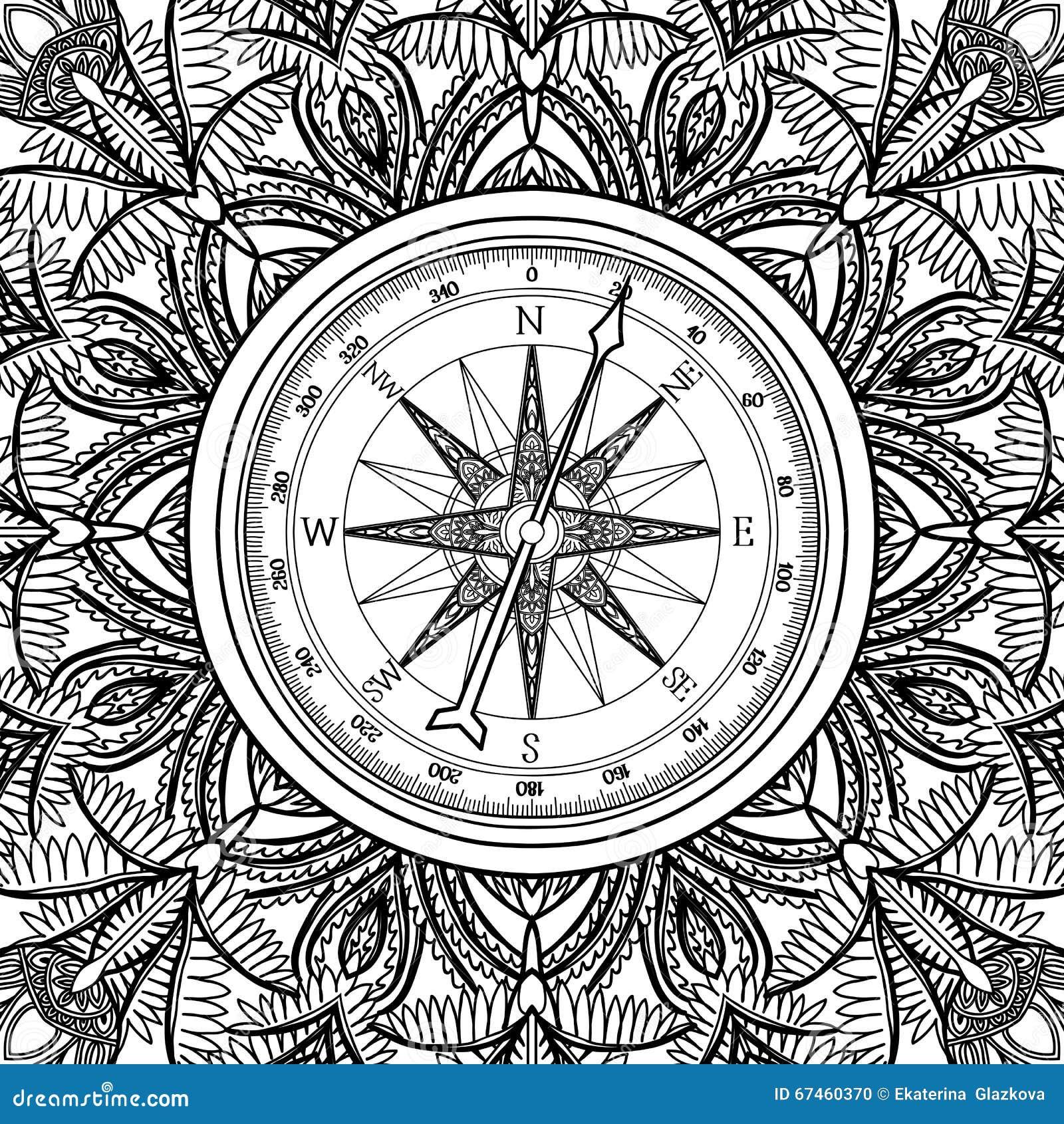 Bussola Grafica Della Rosa Dei Venti Illustrazione Vettoriale Illustrazione Di Antico Nautical 67460370