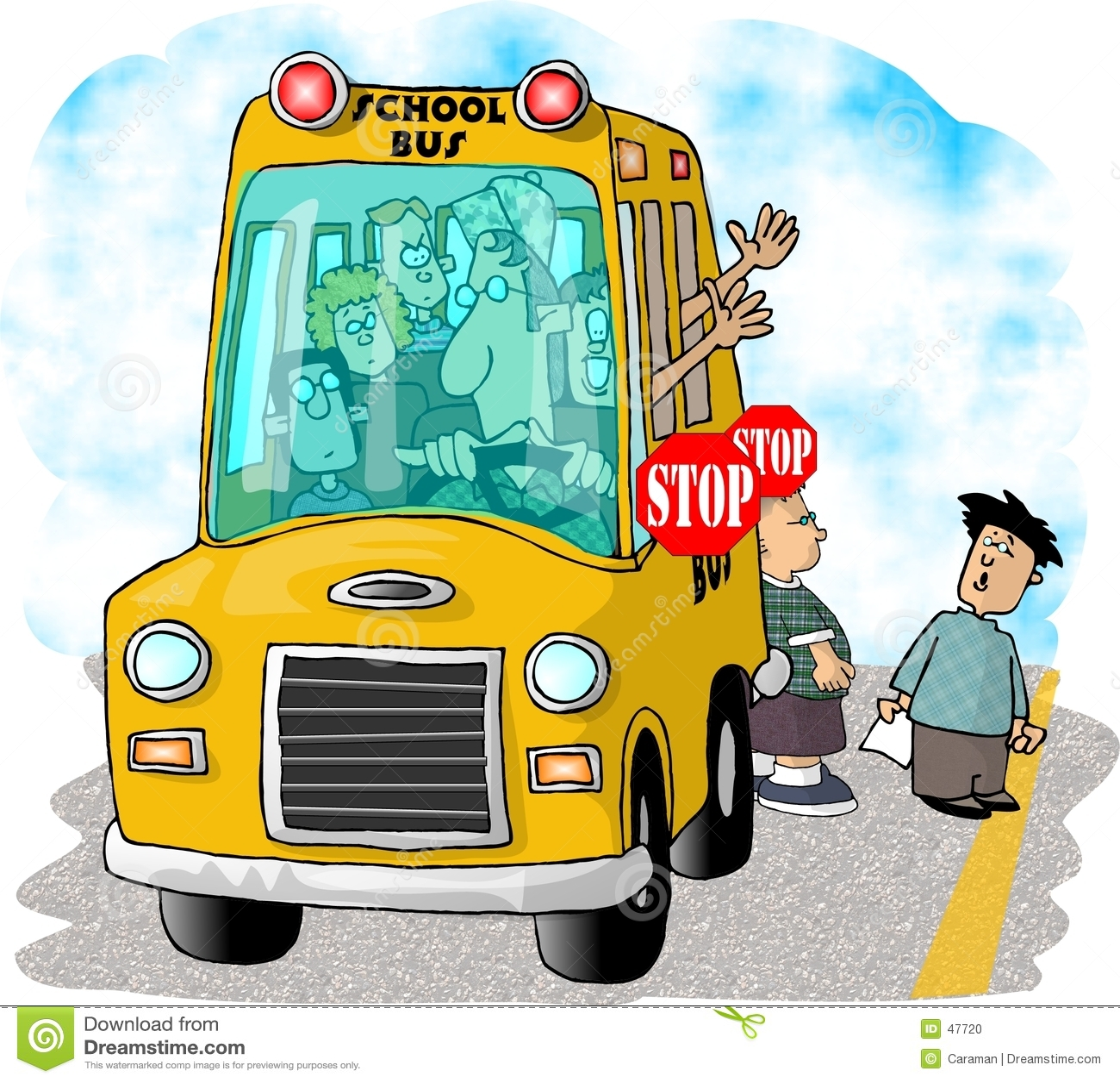 Bussskolastopp