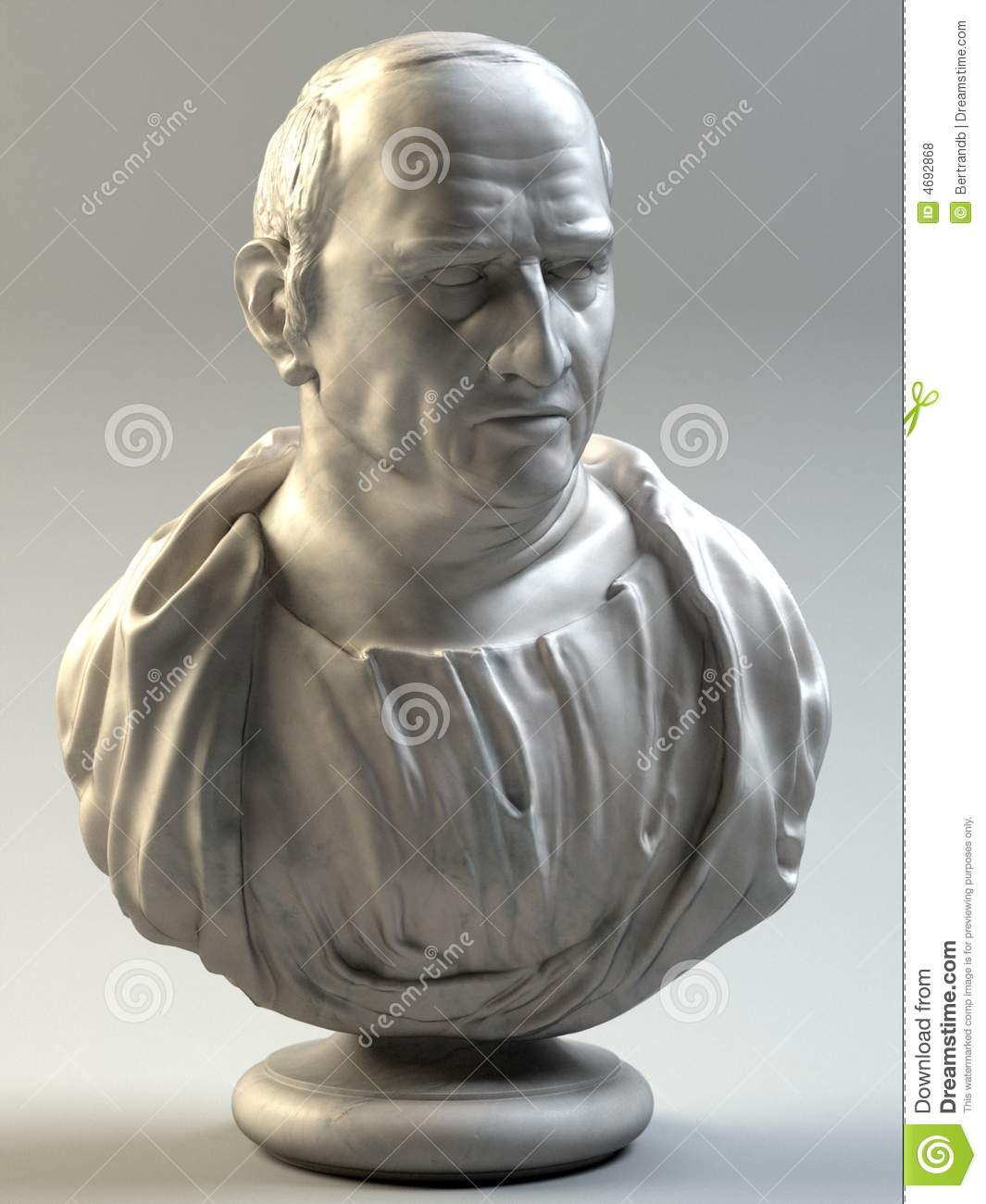 Bust Of Cicero Stock Illustration. Illustration Of Bust