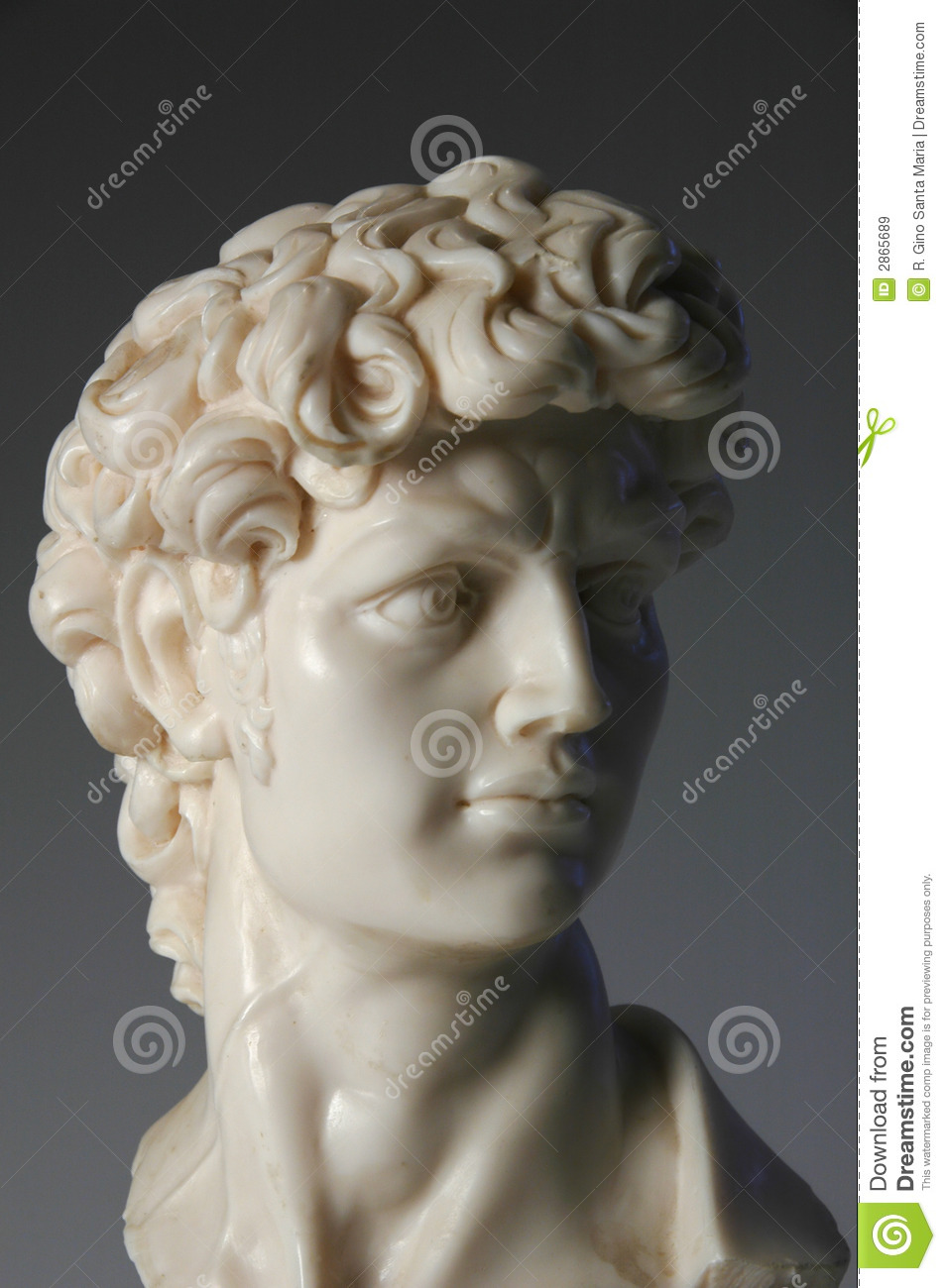 Bust Of David Replica Stock Image Image Of Replica